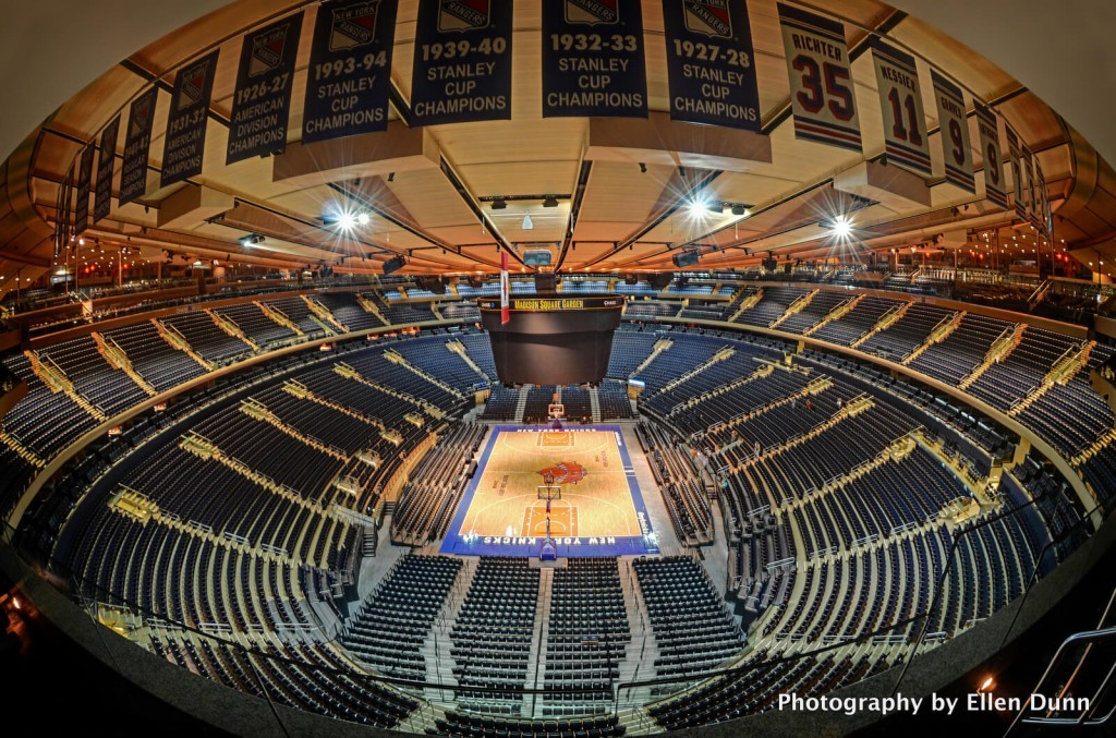 Madison Square Garden, home to the NY Knicks and the Rangers, is just a short ride from Hell's Kitchen.